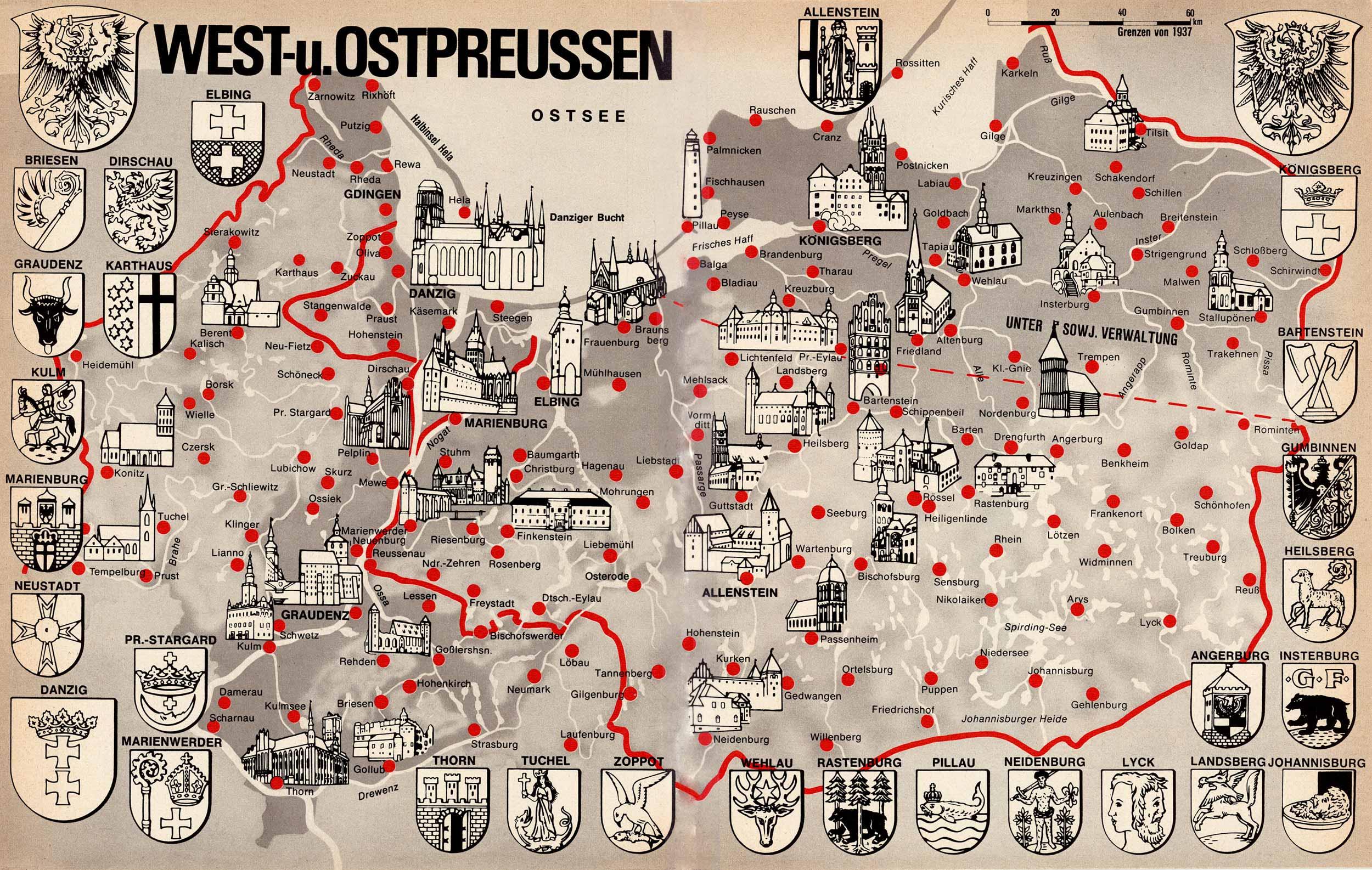 Karte Ostpreußen.Karten Ost Und West Preußen Willich Nach 1945 Flucht Und Vertreibung