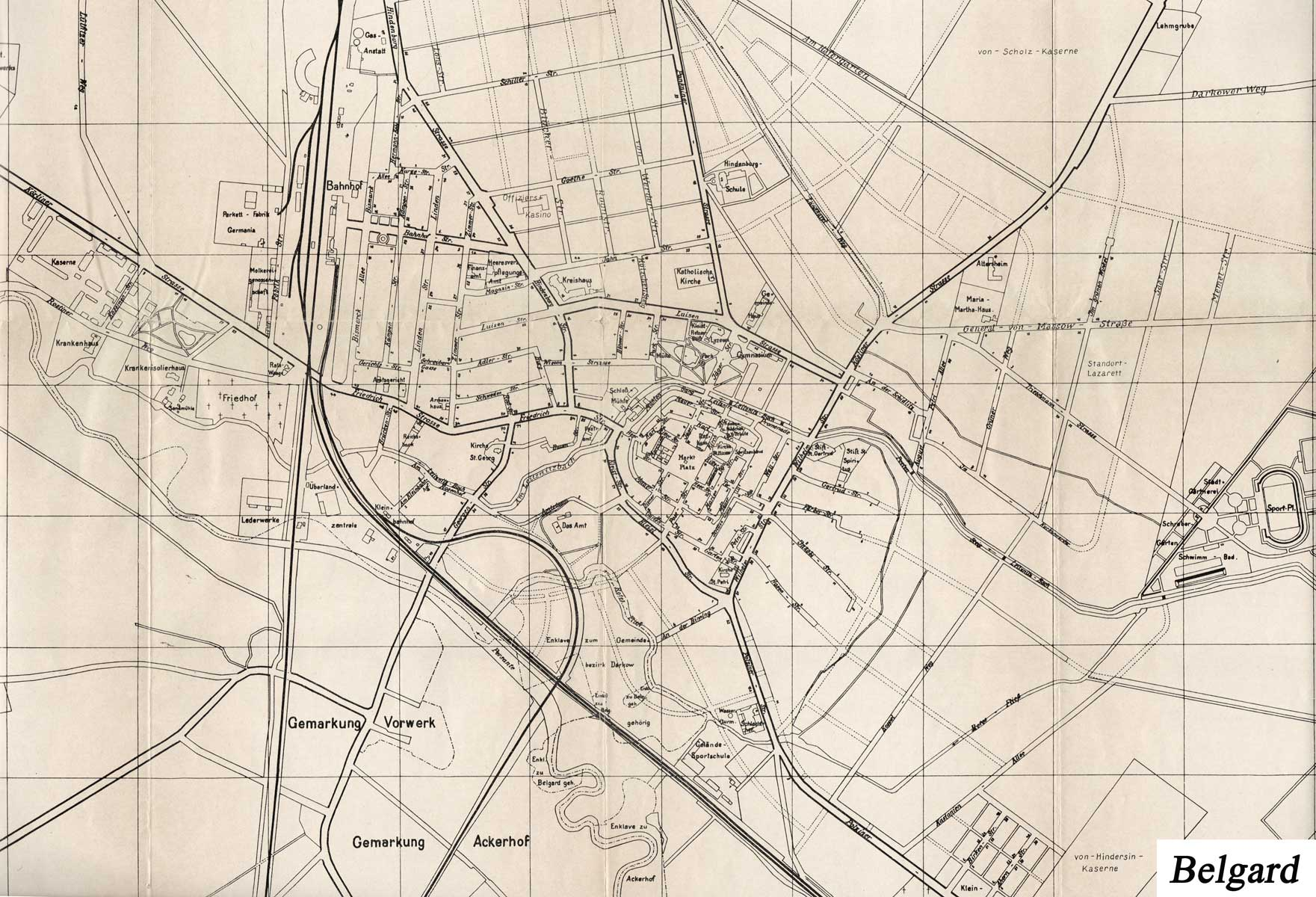 Stadtplan Belgrad