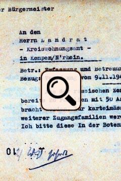 Schreiben vom Bürgermeister 16.11.1945