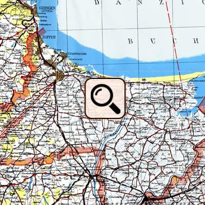 Landkarte Danzig