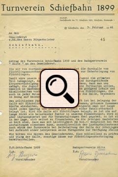 Antrag des Turnverein Schiefbahn (03.02.1946)