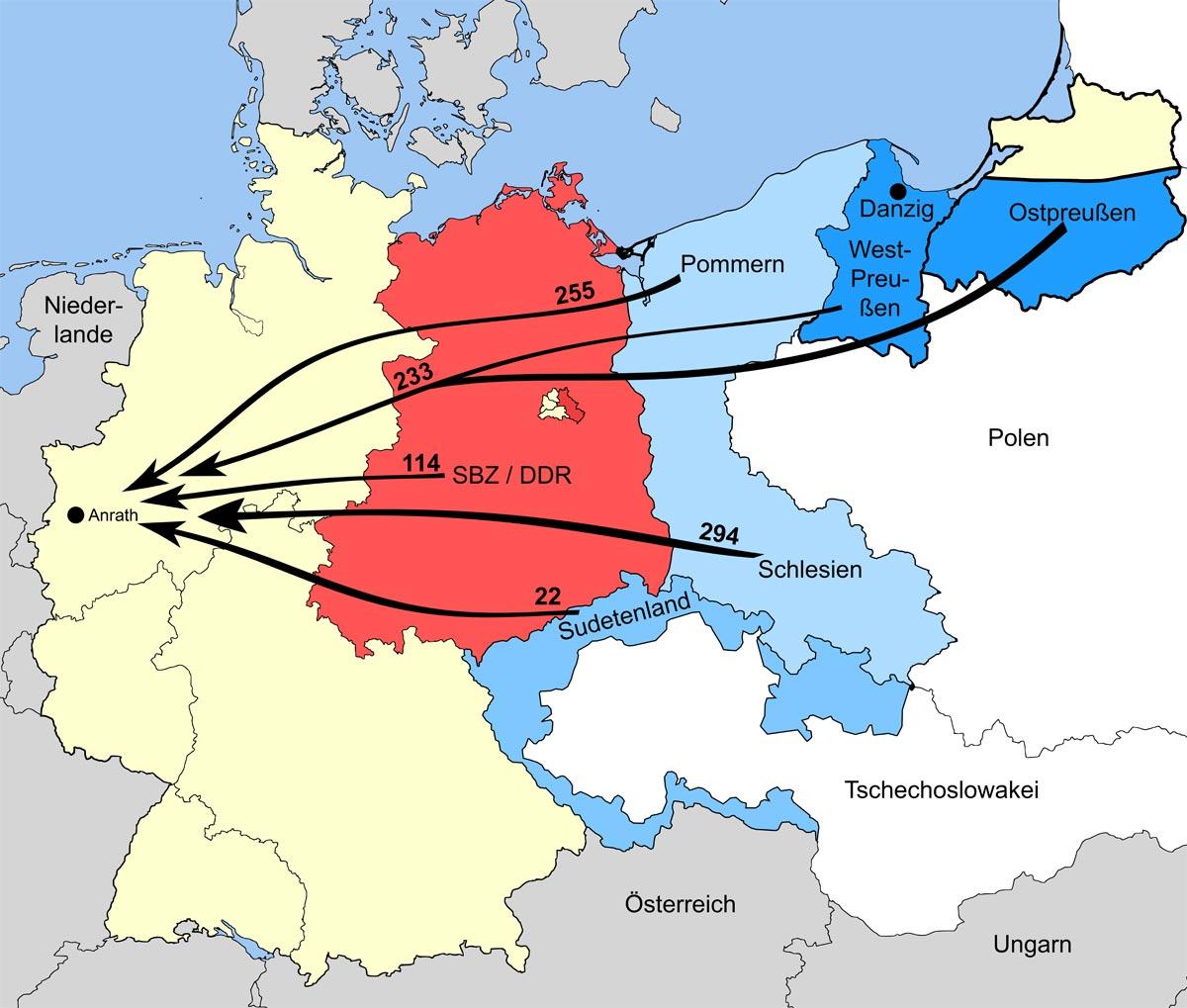 Statistiken Willich Nach 1945 Flucht Und Vertreibung