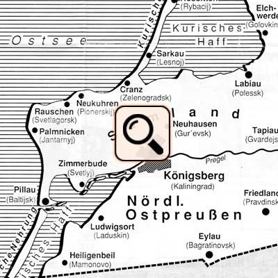 Karte Kurische Nehrung (RP)