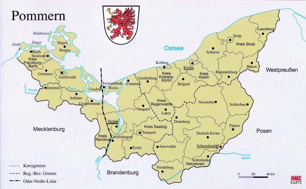 Pommern Karte