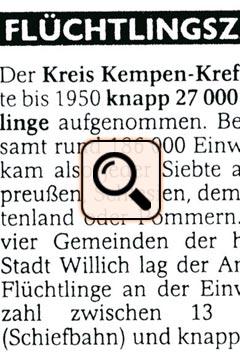 Presseartikel WZ (2005) - Flüchtlinge Zahlen Schiefbahn