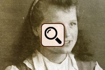 Ursula Liedke mit 13 Jahren in Heiligenbeil