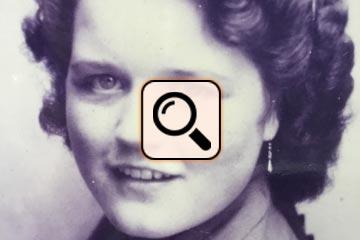 Ursula Liedtke mit 17 Jahren in Mönchengladbach