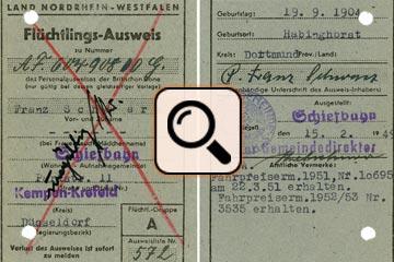 Vertriebenenakte Franz Schwarz