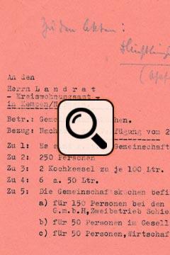 Vertriebene in Schiefbahn Stand November 1945