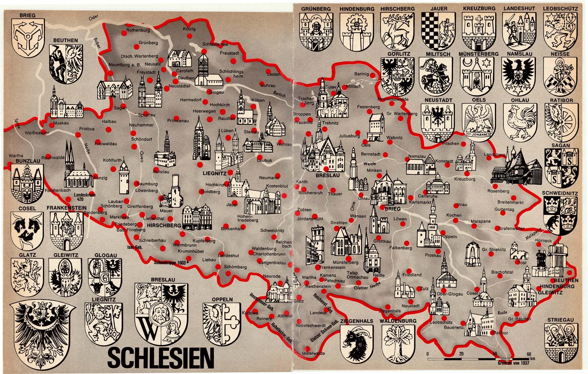 Schlesien Karte Deutsche Ortsnamen.Schlesien Willich Nach 1945 Flucht Und Vertreibung